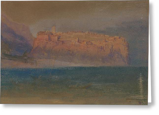 Corsica Greeting Card by Joseph Mallord William Turner