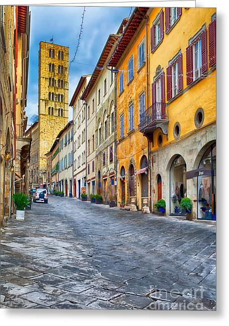 Corso Italia Arezzo Tuscany Greeting Card by Ezeepics