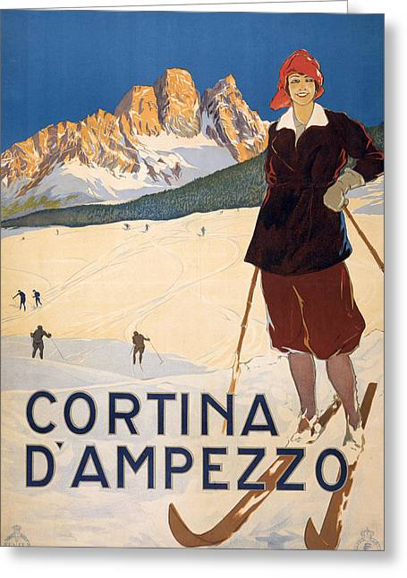 Cortina D'ampezzo Poster Greeting Card