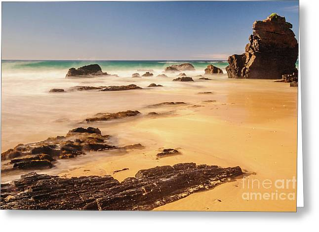 Corunna Point Beach Greeting Card by Werner Padarin