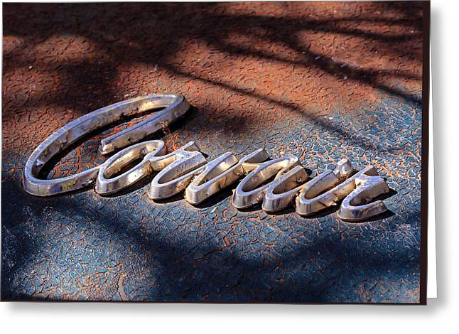 Corvair Emblem Greeting Card by Christopher McKenzie