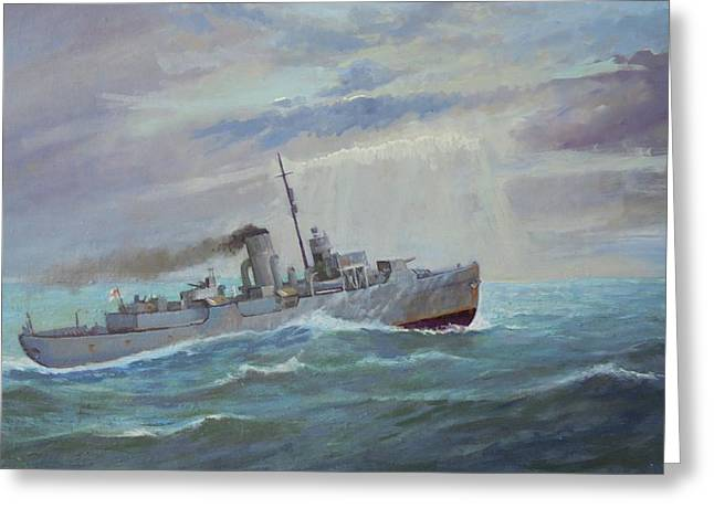 Greeting Card featuring the painting Corvette 1943 by Mike Jeffries