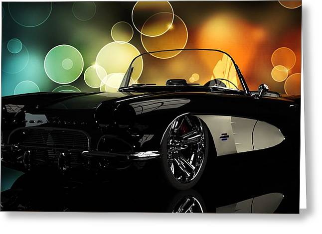 Corvette 1961 Greeting Card by Louis Ferreira