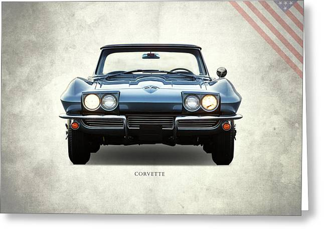 Corvette 1964 Front Greeting Card by Mark Rogan