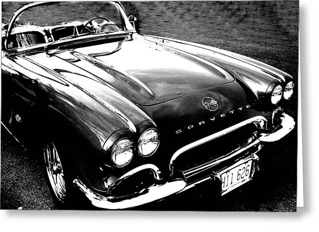 Corvette Greeting Card by Audrey Venute