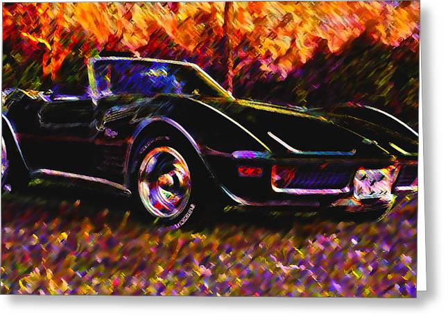 Corvette Beauty Greeting Card