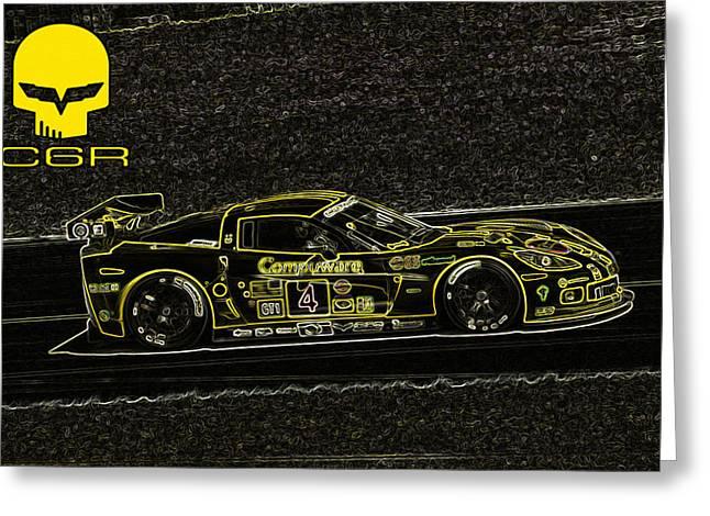 Corvette C6r Art Greeting Card by Darrell Foster