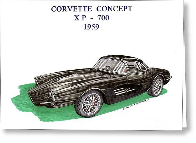 Corvette Concept Xp 700 Greeting Card