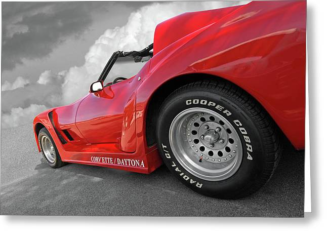 Greeting Card featuring the photograph Corvette Daytona by Gill Billington