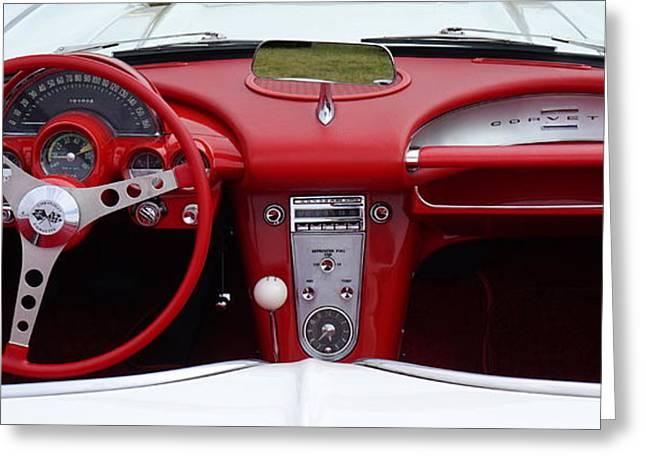 Corvette Driver Greeting Card