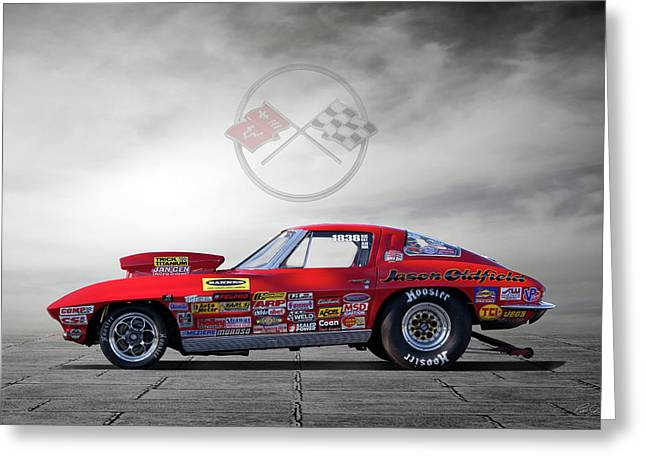 Corvette Profile Greeting Card by Peter Chilelli