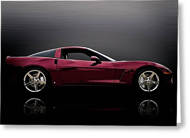Corvette Reflections Greeting Card by Douglas Pittman