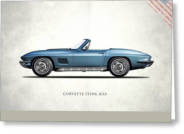 Corvette Stingray 1967 Greeting Card by Mark Rogan