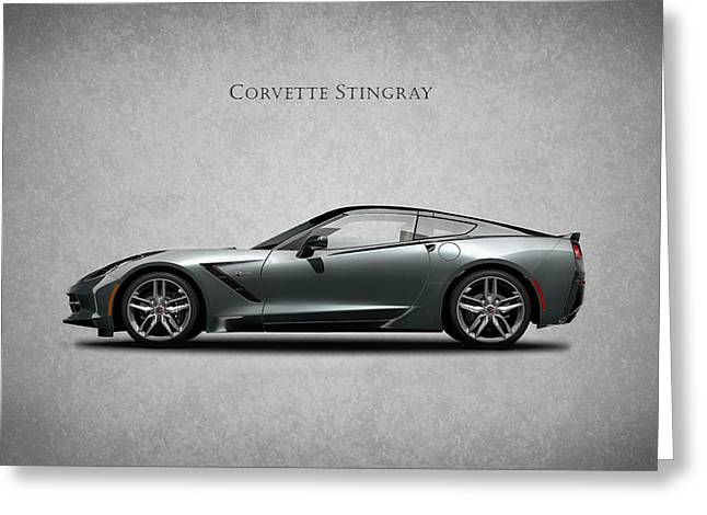 Stingray Greeting Cards - Corvette Stingray Coupe Greeting Card by Mark Rogan