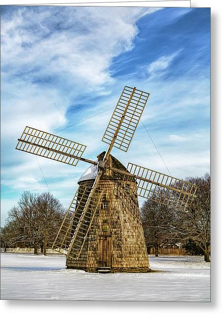 Corwith Windmill Long Island Ny Cii Greeting Card by Susan Candelario