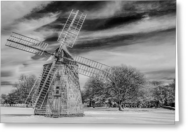 Corwith Windmill Long Island Ny Greeting Card by Susan Candelario