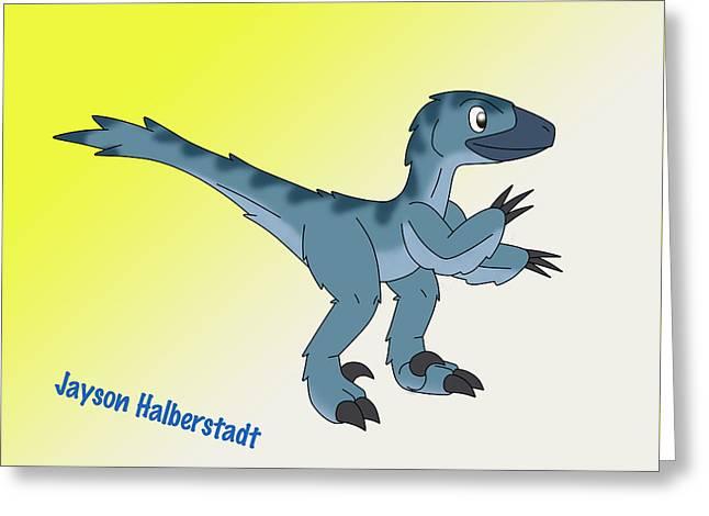 Cory The Raptor Greeting Card