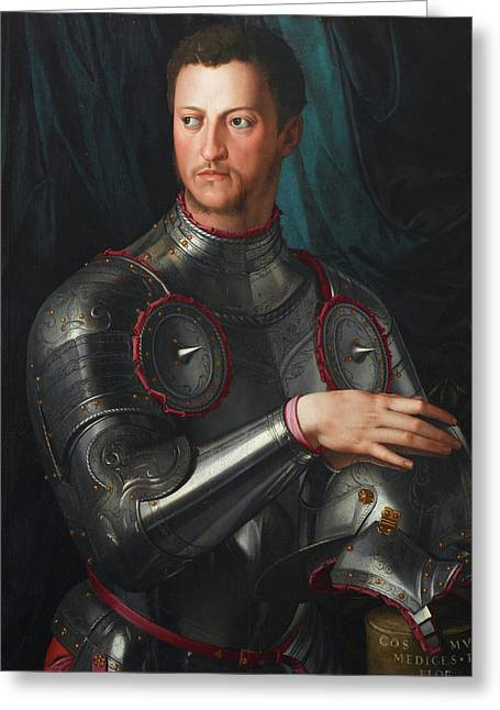 Cosimo I De' Medici In Armour Greeting Card