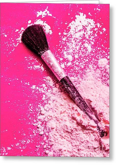 Cosmetics Powder Fine Art Still Life Greeting Card