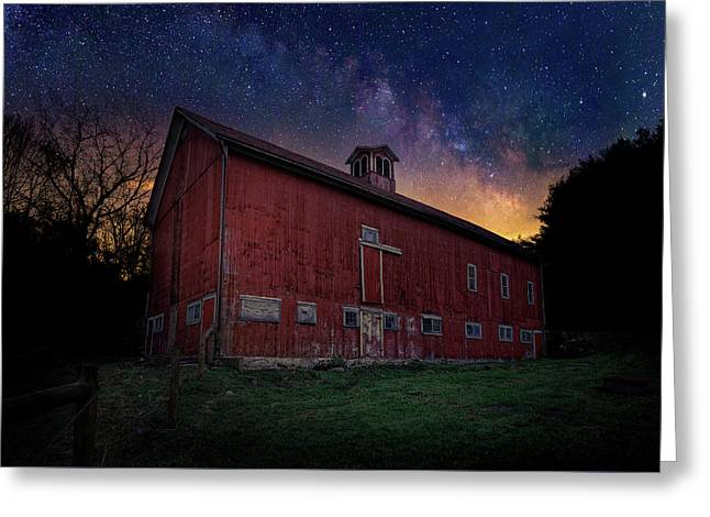 Cosmic Barn Greeting Card