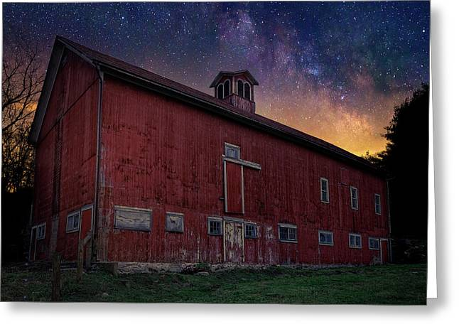Cosmic Barn Square Greeting Card