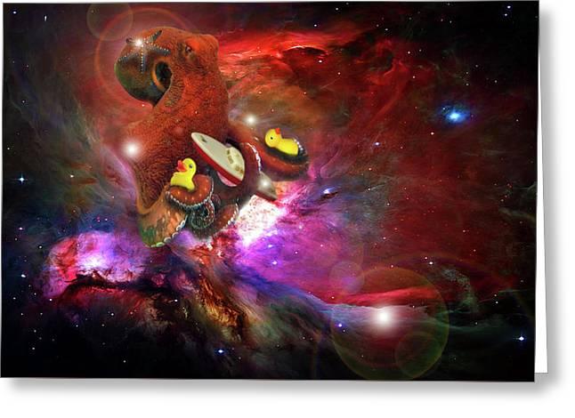 Cosmic Bath Time Greeting Card