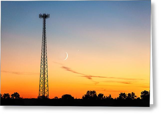 Cosmic Communications Greeting Card by Todd Klassy