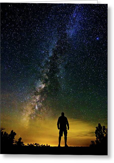 Cosmic Contemplation Greeting Card