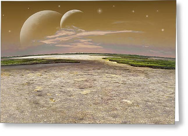 Cosmic Fantasy - Pano Greeting Card by Brian Wallace