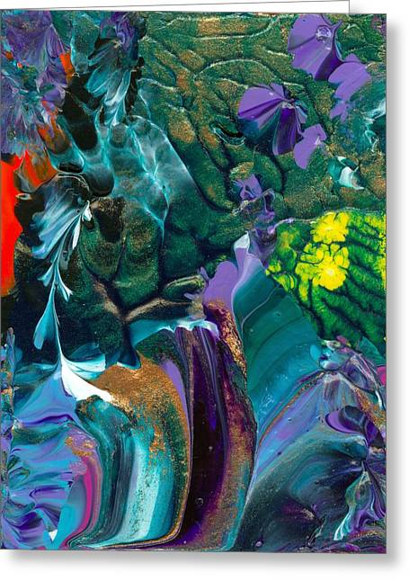 Cosmic Feathered Webbed Universe Greeting Card