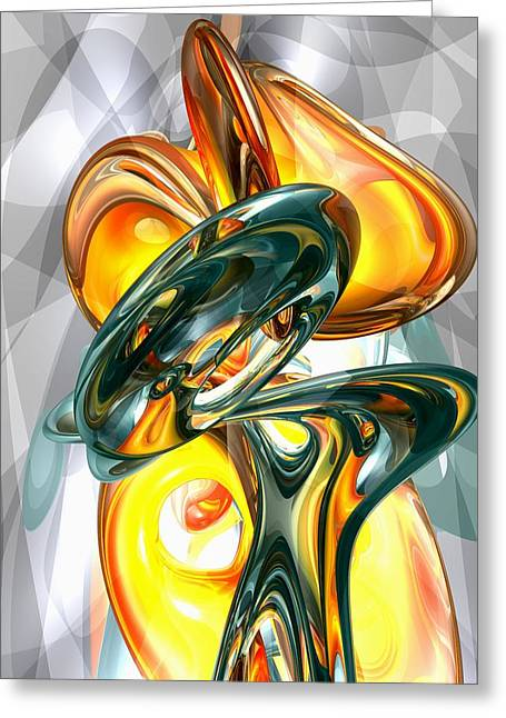 Cosmic Flame Abstract Greeting Card by Alexander Butler