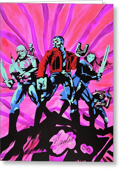 Cosmic Guardians Of The Galaxy 2 Greeting Card
