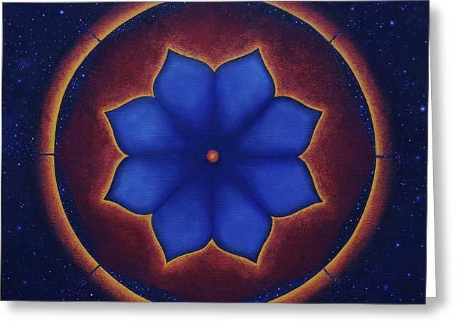 Cosmic Harmony Greeting Card