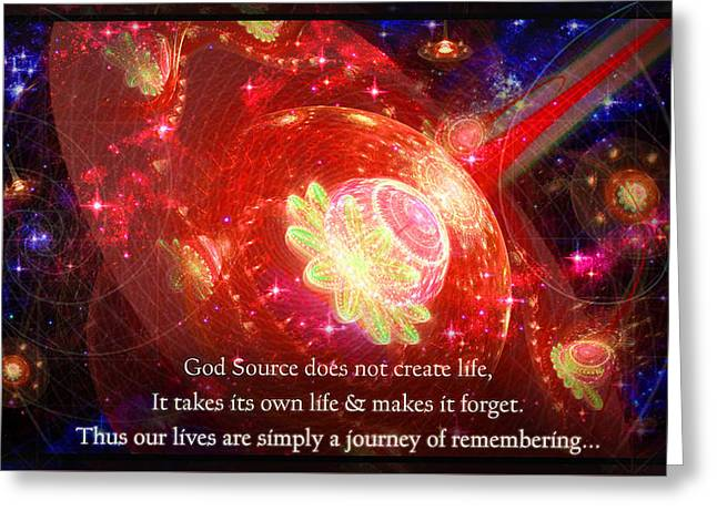 Cosmic Inspiration God Source 2 Greeting Card