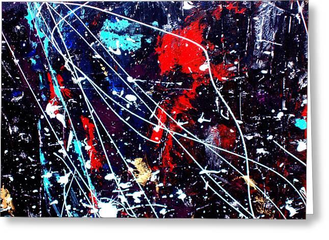 Cosmic Journey Greeting Card by Wayne Potrafka