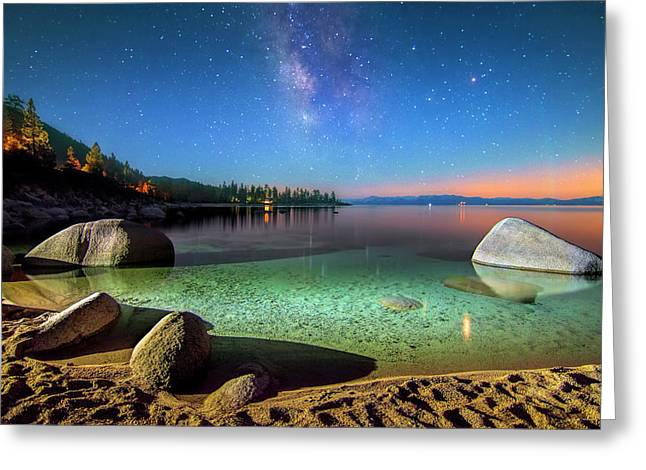 Cosmic Light Greeting Card by Steve Baranek