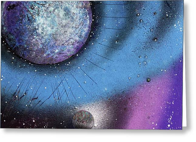 Cosmic Moon Greeting Card