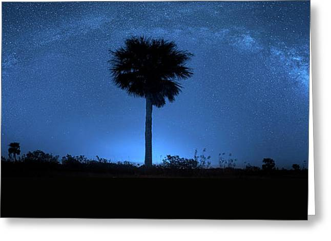 Greeting Card featuring the photograph Cosmic Night by Mark Andrew Thomas