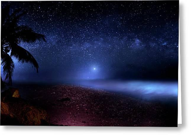 Cosmic Ocean Greeting Card by Mark Andrew Thomas