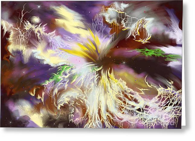 The Flowering Of The Cosmos Greeting Card