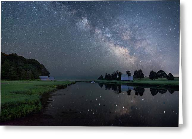 Cosmic Reflection Greeting Card