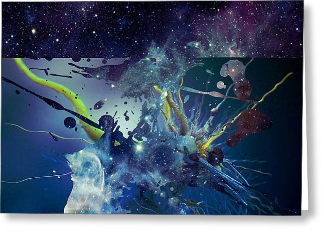Greeting Card featuring the photograph Cosmic Resonance No 1 by Robert G Kernodle