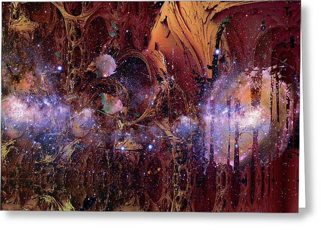 Greeting Card featuring the photograph Cosmic Resonance No 2 by Robert G Kernodle