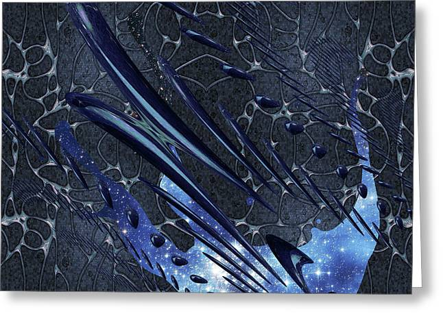 Greeting Card featuring the photograph Cosmic Resonance No 5 by Robert G Kernodle