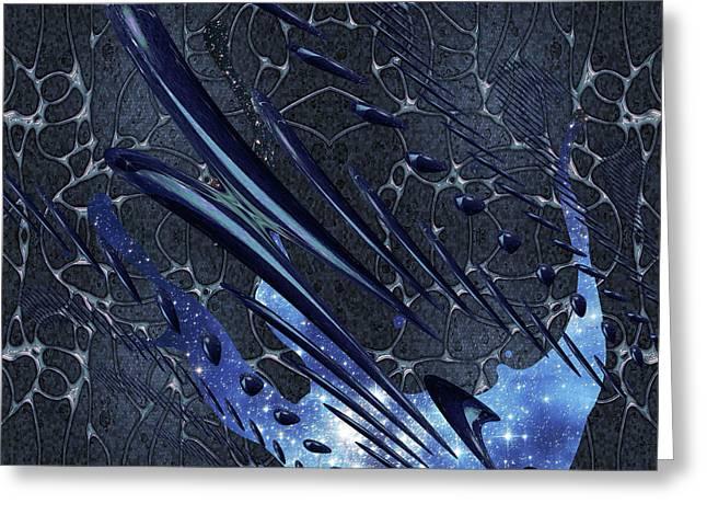 Cosmic Resonance No 5 Greeting Card