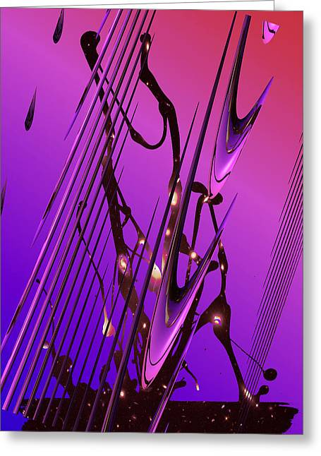 Greeting Card featuring the photograph Cosmic Resonance No 6 by Robert G Kernodle