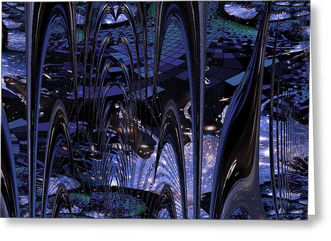Greeting Card featuring the photograph Cosmic Resonance No 8 by Robert G Kernodle