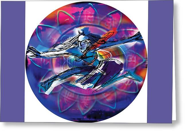 Cosmic Shiva Speed Greeting Card