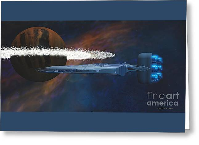 Cosmic Spaceship Greeting Card