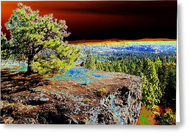 Cosmic Spokane Rimrock Greeting Card